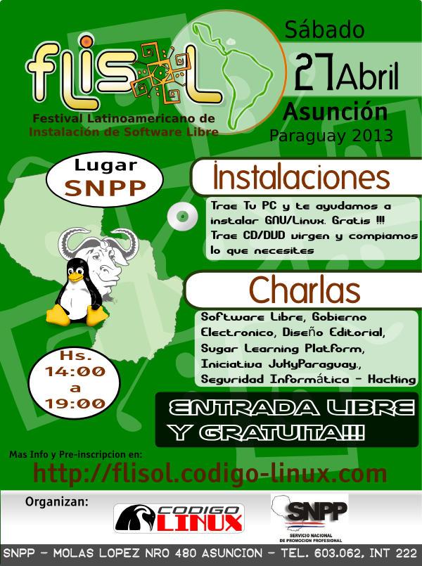 FLIsOL 2013 Asunción - Paraguay