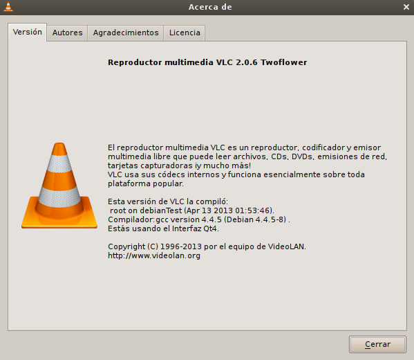 vlc 2.0.6 en Debian Squeeze