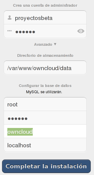 Configurar Owncloud 5.0.6 en Debian Wheezy