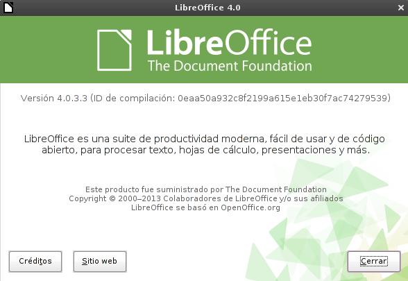 LibreOffice 4.0.3 en Debian Squeeze