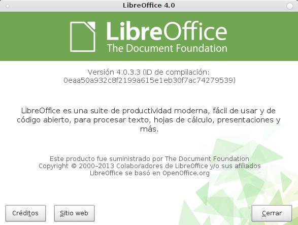 LibreOffice 4.0.3 en Debian Wheezy