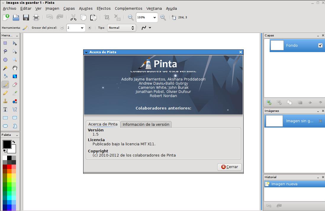 Pinta 1.5 en Ubuntu 13.04