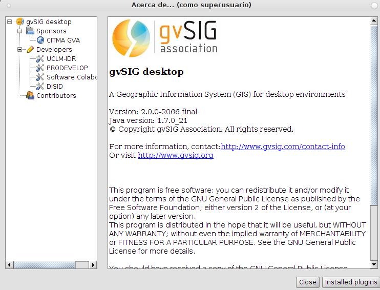 gvSIG 2.0 en Debian Wheezy