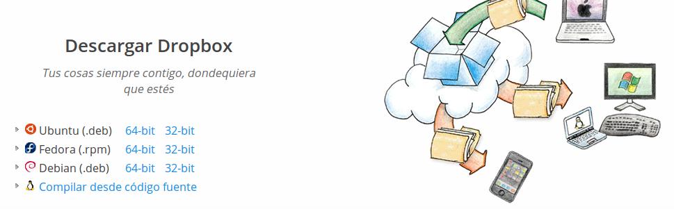 Descargar Dropbox para Linux Mint 15