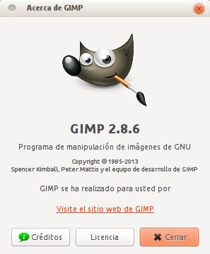 Gimp 2.8.6 en Ubuntu 13.04
