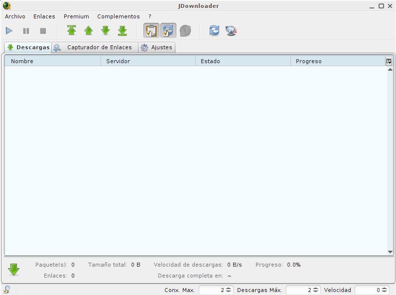 JDownloader en Linux Mint 15 Olivia