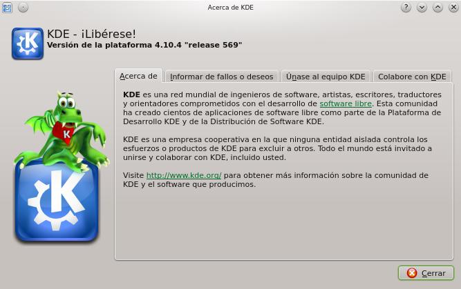 KDE 4.10.4 en OpenSUSE 12.2
