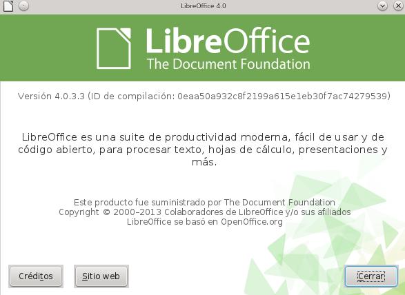 LibreOffice 4.0.3 en openSUSE 12.2