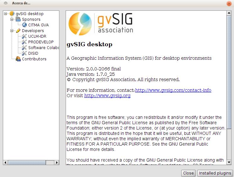 gvSIG 2.0 en Ubuntu 13.04 de 32 bits