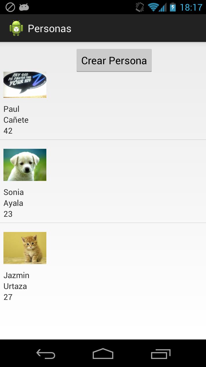 Ejemplo de Android Universal Image Loader con un ListView