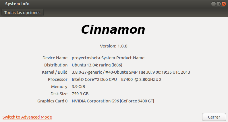 Cinnamon 1.8 en Ubuntu 13.04