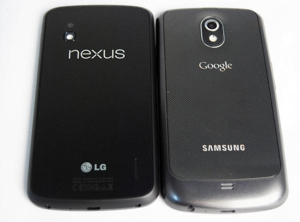 Nexus 4 y Samsung Galaxy Nexus