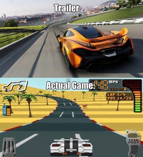 La realidad de los Trailers de los juegos