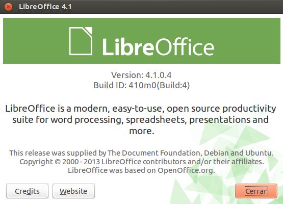 LibreOffice 4.1 en Ubuntu 13.04