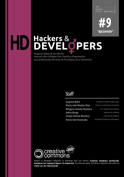 Portada de la revista Hackers & Developers número 9