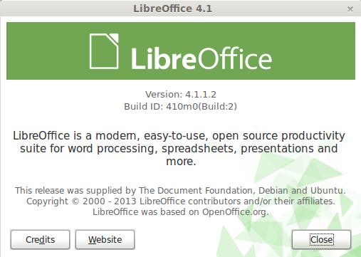 LibreOffice 4.1 en Linux Mint 15