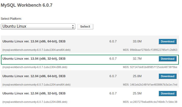 Descargar MySQL Workbench 6.0.7