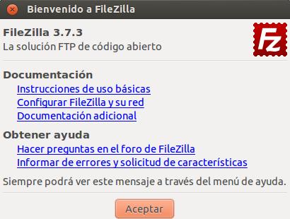 FileZilla 3.7.3 en Ubuntu 13.04
