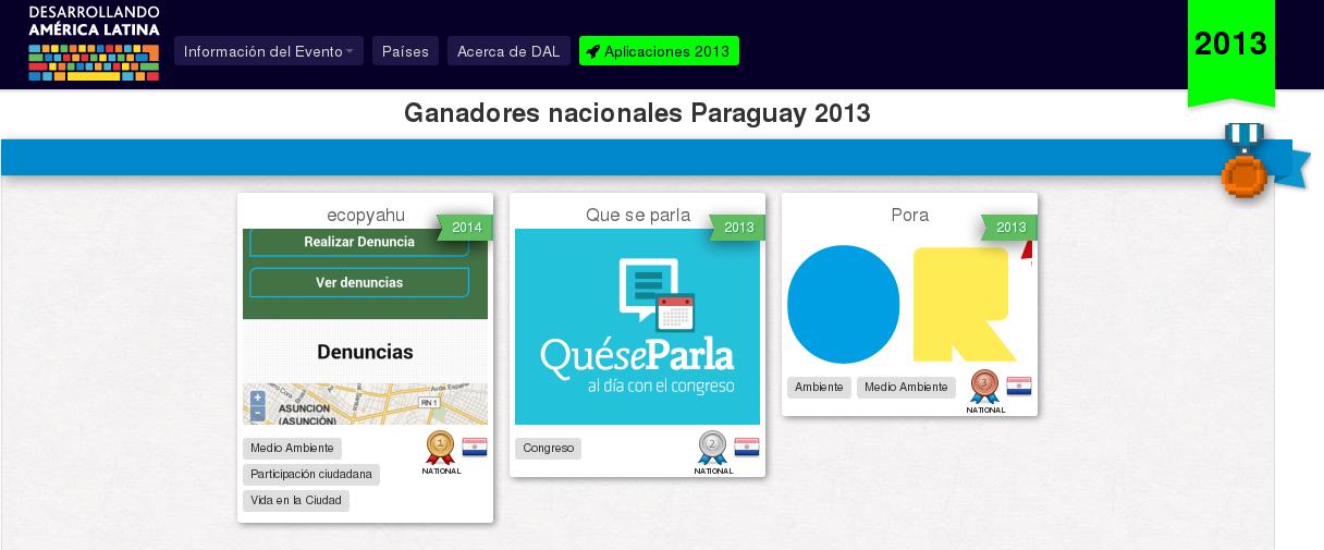 Ganadores de #DAL2013 de Paraguay