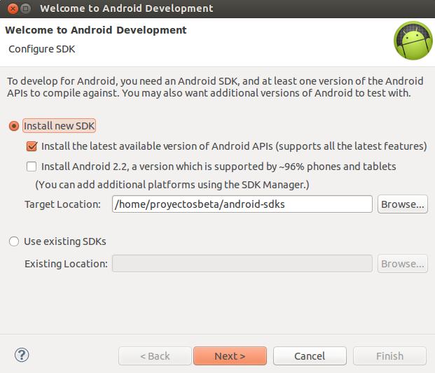 Instalar herramientas de Android en eclipse Kepler