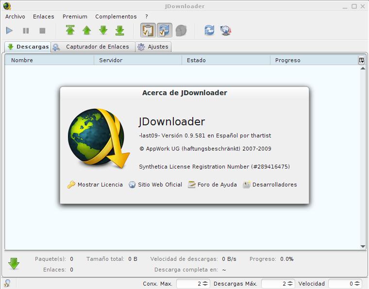 JDownloader en Ubuntu 13.10