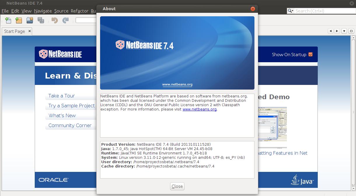 NetBeans 7.4 en Ubuntu 13.10