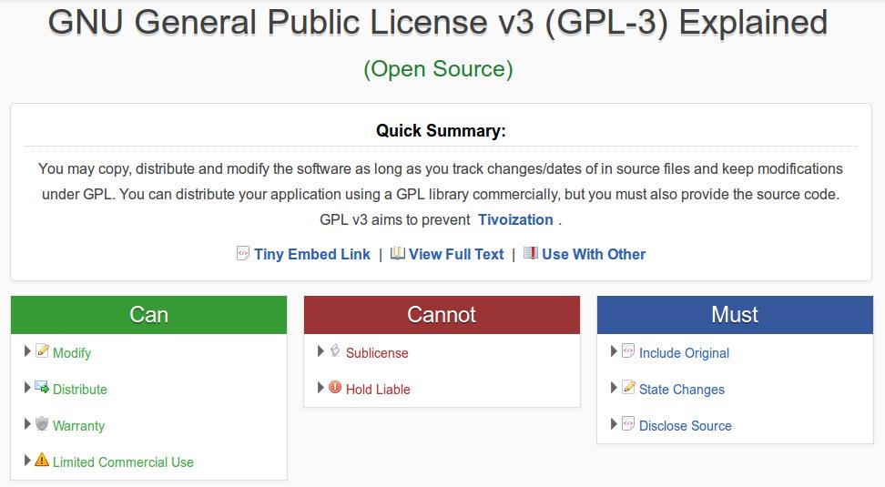 Evaluar licencias de Software Libre