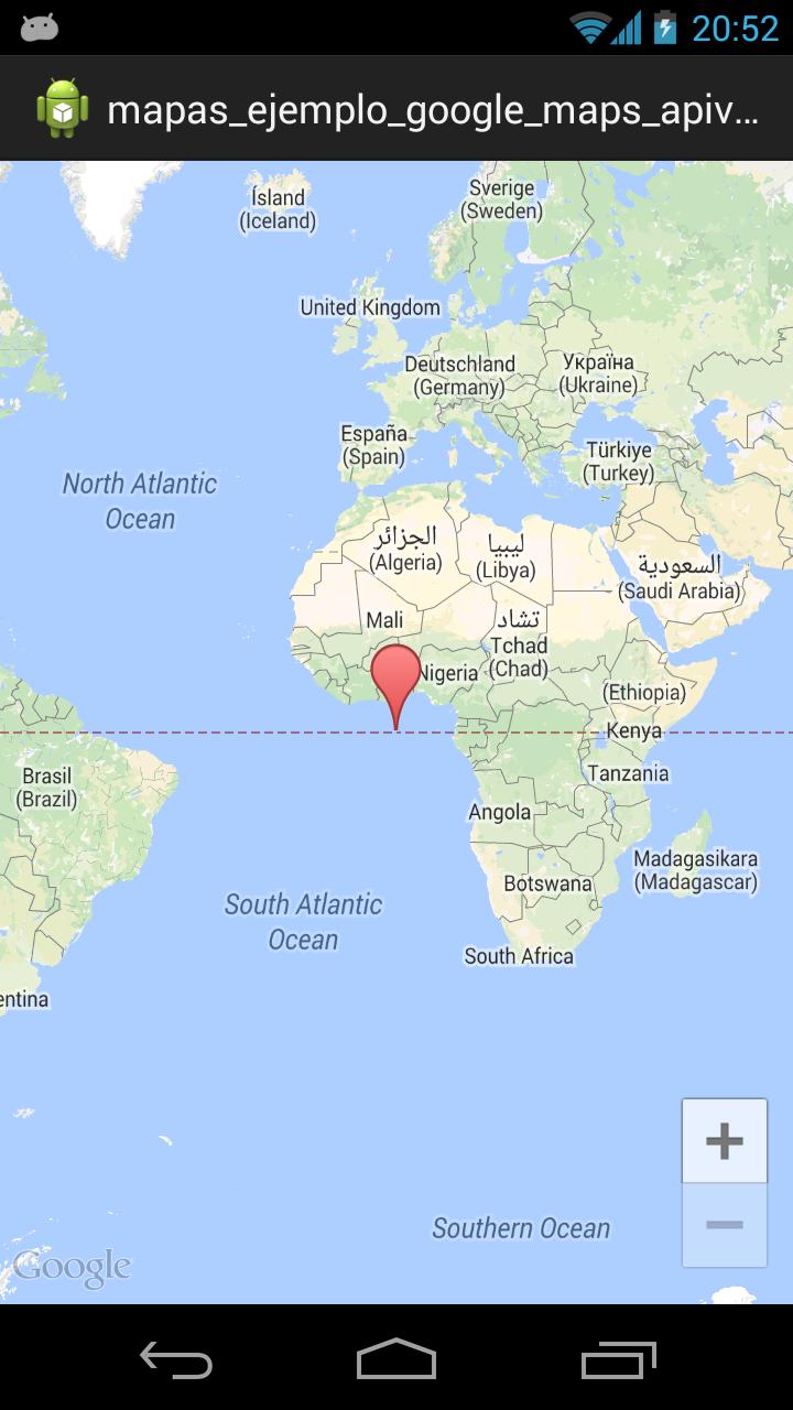 Ejemplo utilizando la API de Google Maps v2 para Android