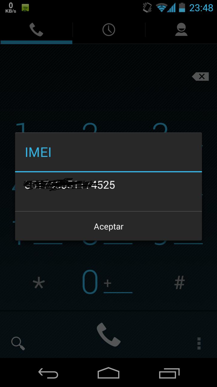 IMEI en un Samsung Galaxy Nexus