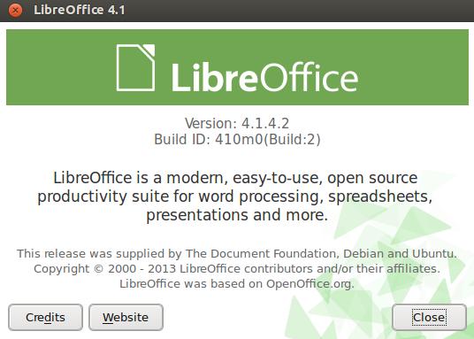 LibreOffice 4.1.4 en Ubuntu 13.10