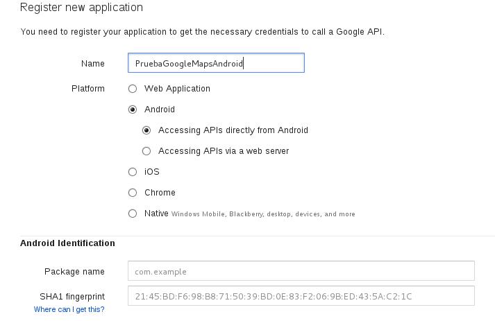 Registrar una nueva app