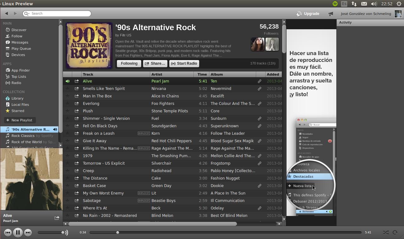 Spotify en Ubuntu 13.10