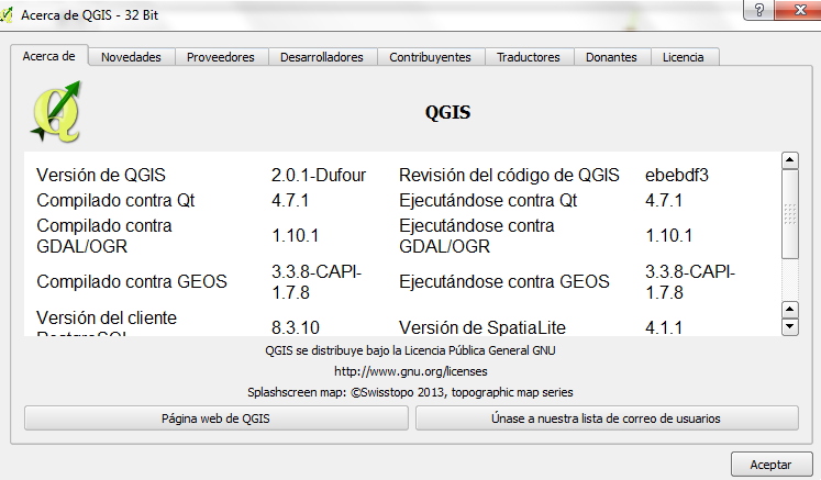 QGIS 2.0 en Windows 7