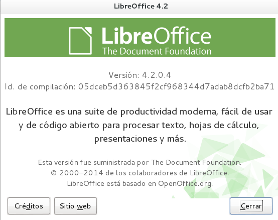 LibreOffice 4.2.0 en Debian Wheezy