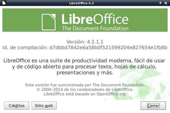 LibreOffice 4.2.1 en Debian Wheezy