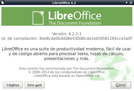 LibreOffice 4.2.2 en Debian Wheezy