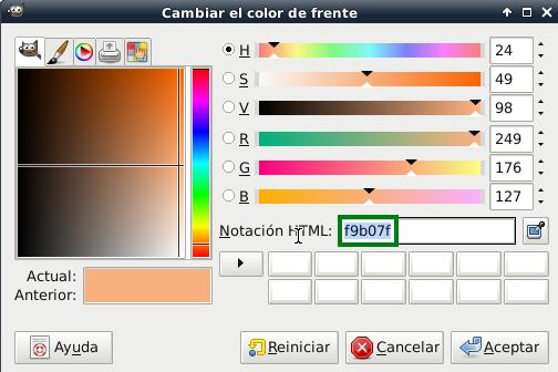 Obtenemos el color