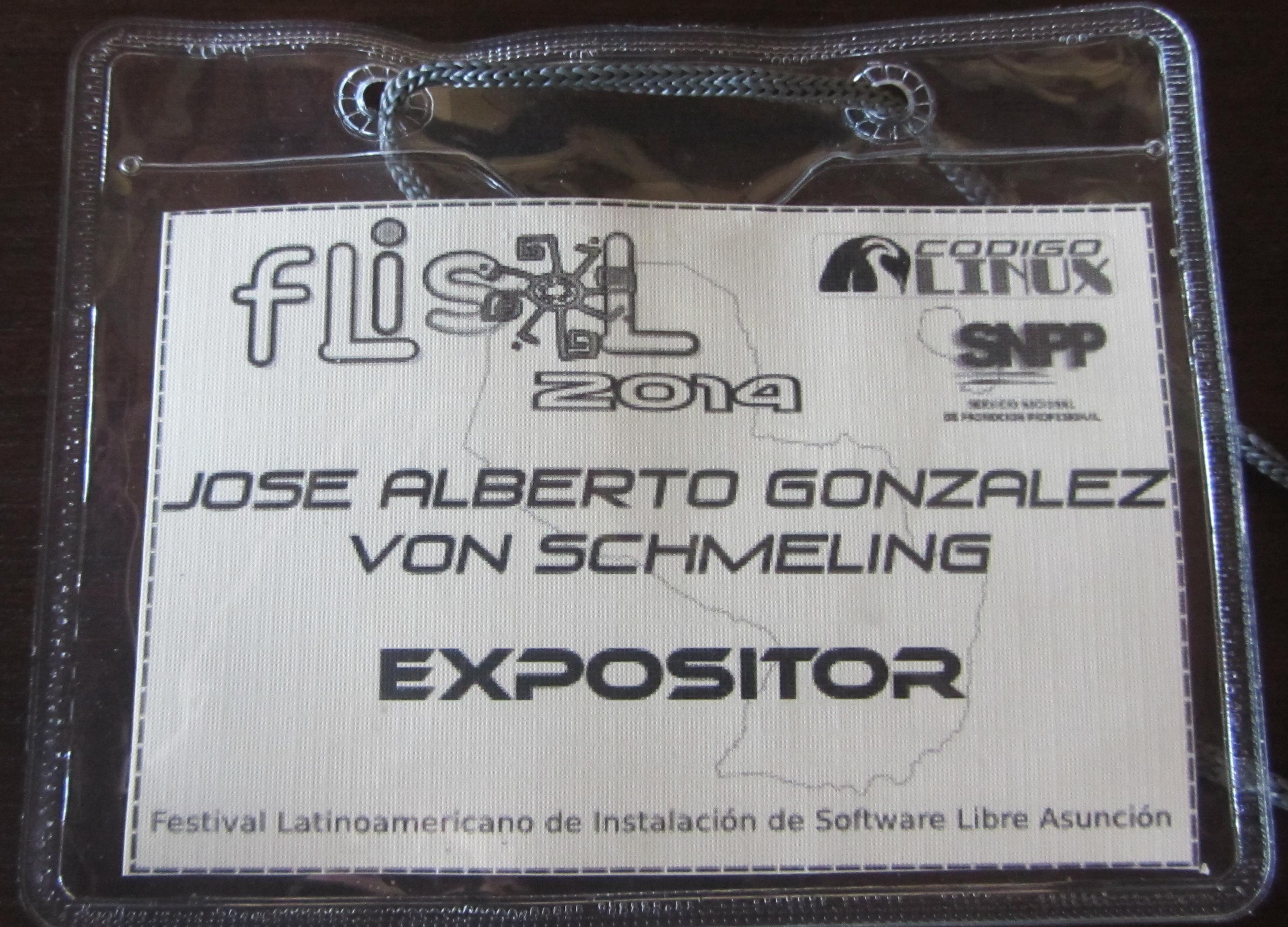 Carnet de expositor FLISOL 2014 Asu