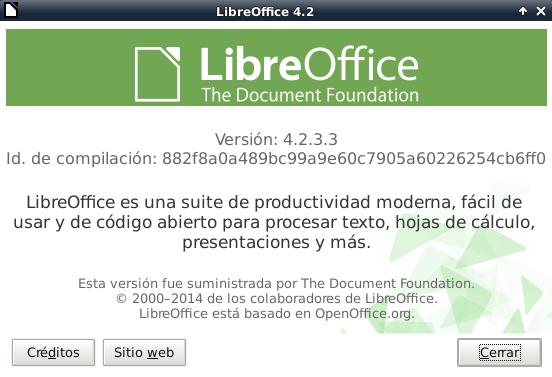 LibreOffice 4.2.3 en Debian Wheezy