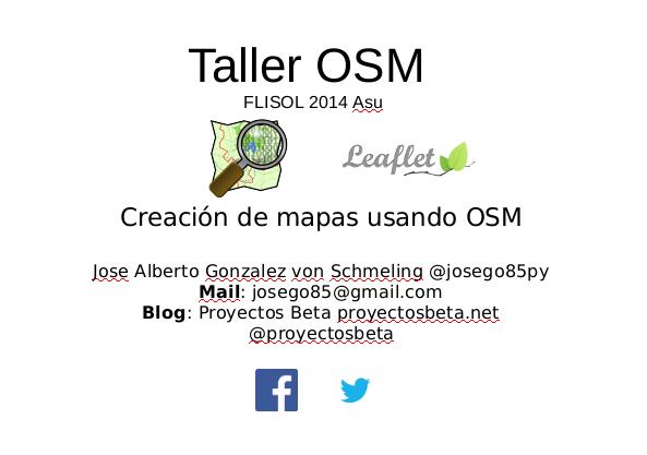 Taller OSM en el FLISOL 2014 Asu