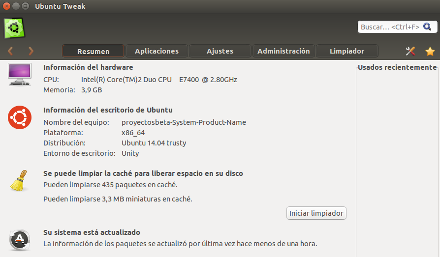 Ubuntu Tweak 0.8.7 en Ubuntu 14.04