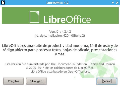 LibreOffice 4.2.4 en Ubuntu 14.04 LTS