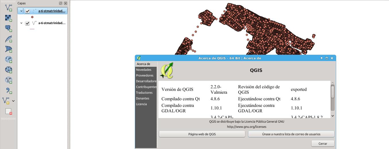 QGIS 2.2.0 en Ubuntu 14.04 LTS