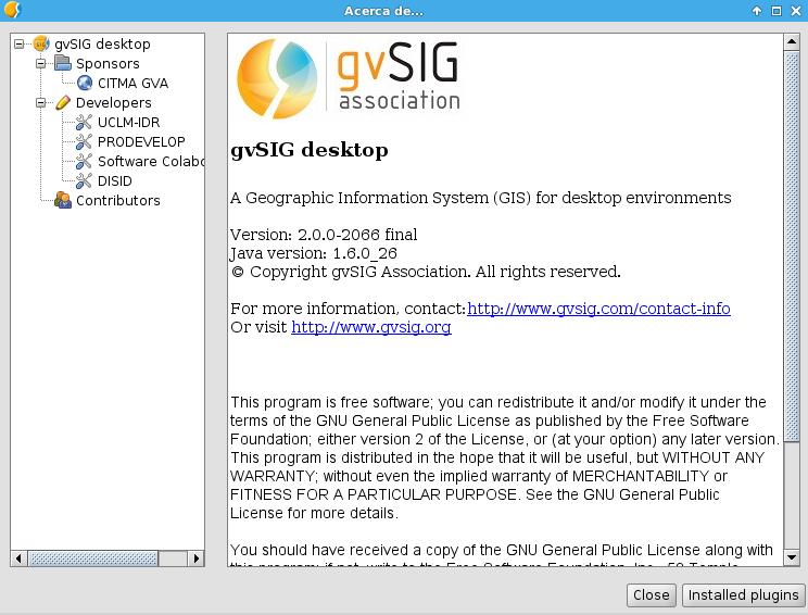 gvSIG 2.0 en Ubuntu 14.04 LTS de 64 bits