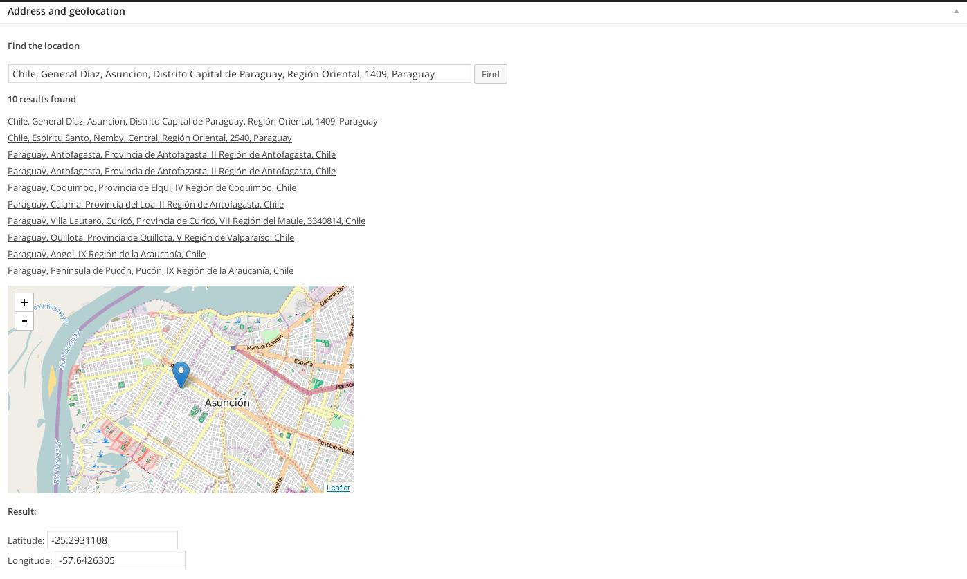 Crear una entrada en WordPress con GeoLocalización