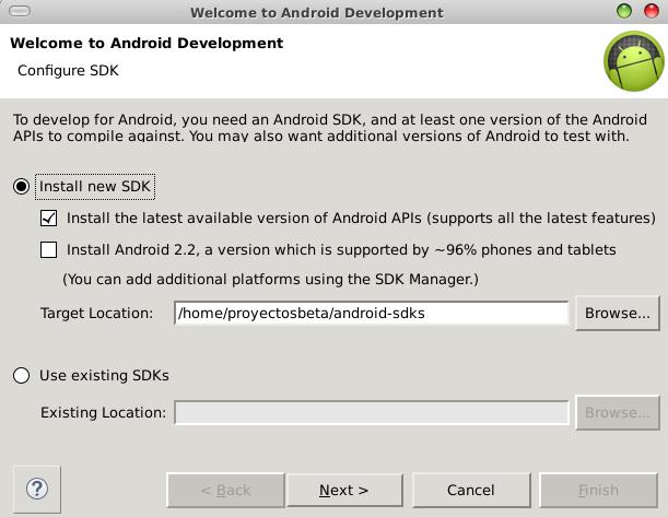 Instalar SDK de Android en Eclipse Luna