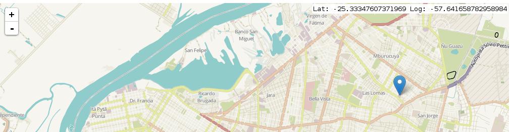 Leaftlet – mostrando latitud y longitud