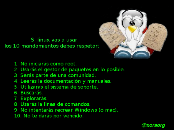 Los 10 mandamientos si vas a usar GNU/Linux