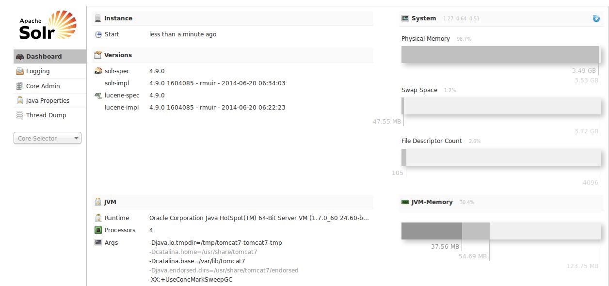 Apache Solr 4.9.0 en Ubuntu 14.04 LTS