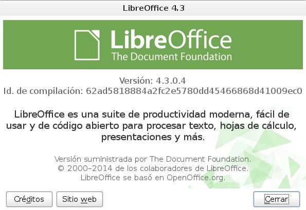 LibreOffice 4.3 en Debian Wheezy